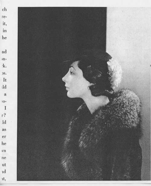 Jazz Age profile in furs