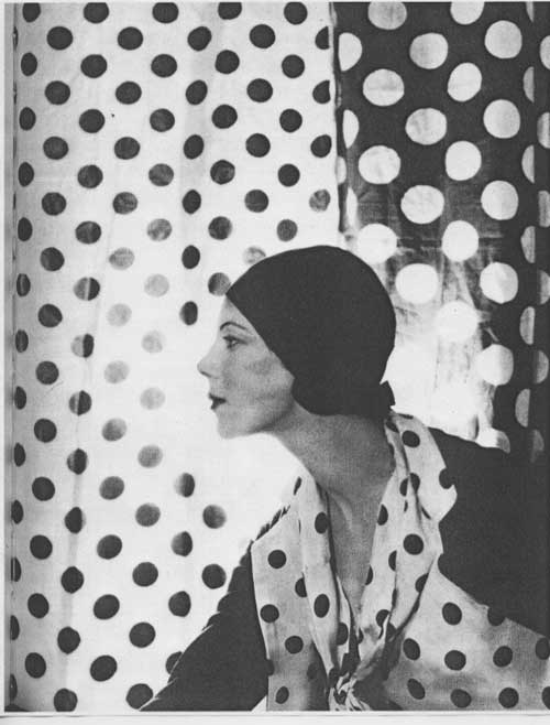 Polka dot Irving Penn profile