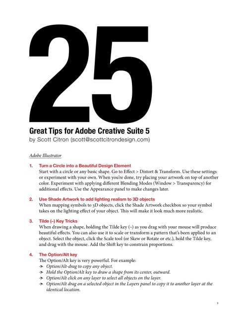 25 Great Tips for CS5