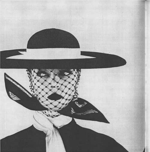 Famous Irving Penn portrait with hat, veil and scarf