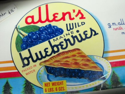 Allen's blueberries, centered