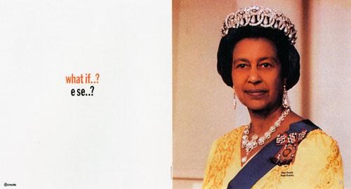 Tibor Kalman's black Queen Elizabeth
