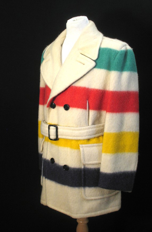 Hudson's Bay striped pea coat