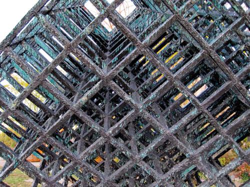 Dimensional cube, Socrates Sculpture Park
