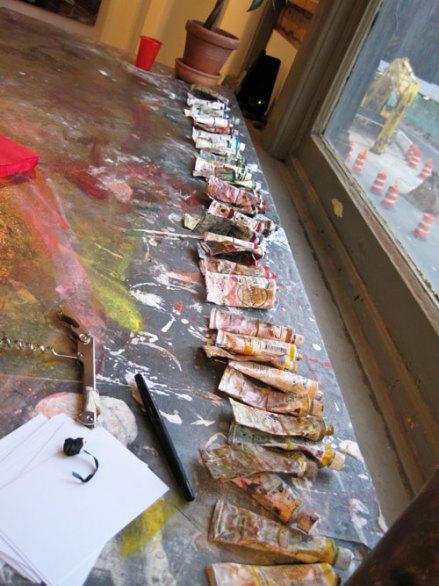 Matthew Fischer's paints, Columbia Open Studios