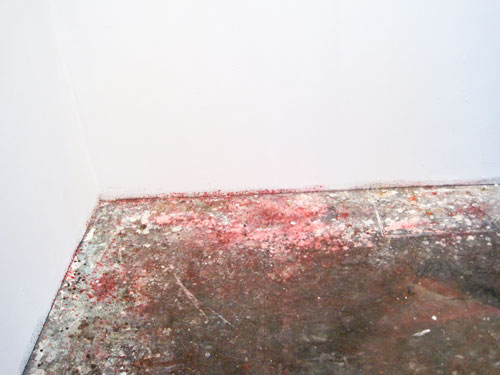 Matthew Fischer's paint-splattered floor, Columbia Open Studios