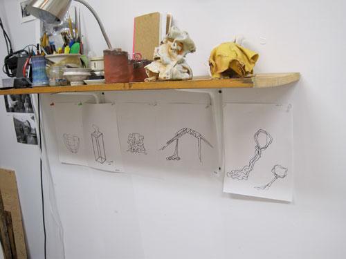 Brie Ruais' sketches, Columbia Open Studios
