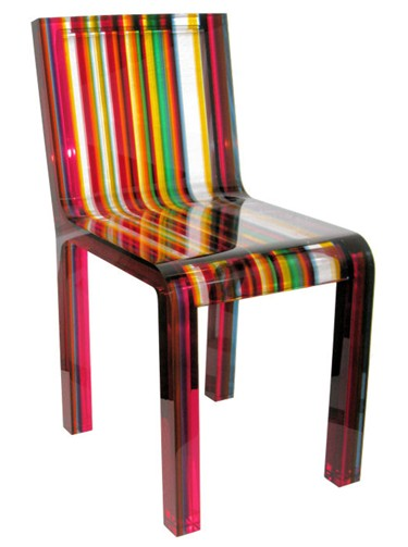Striped Norguet chair