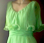 Lime green tiered mini dress