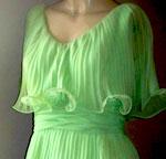 Lime green tiered mini dress