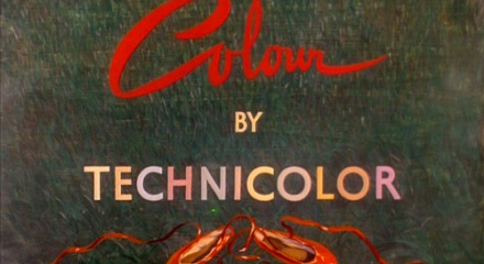 Technicolor lettering from The Red Shoes