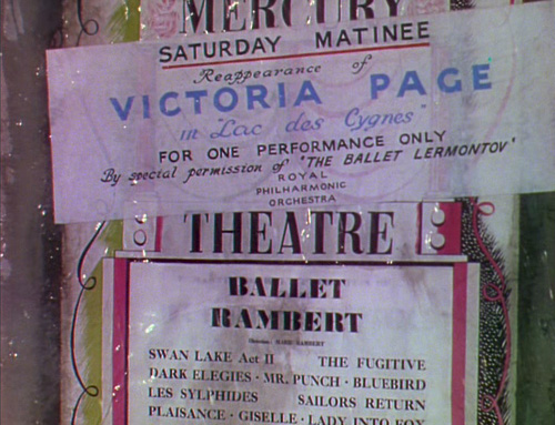 Extravagantly typeset Mercury Theatre poster from The Red Shoes