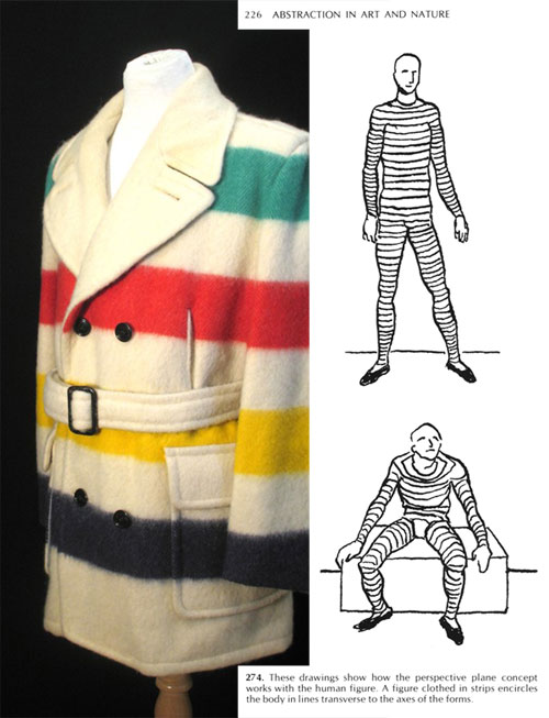 Striped coat / body diagram