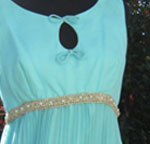 Turquoise beaded keyhole dress