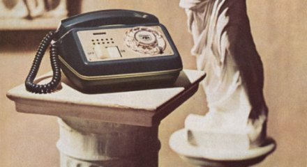 Venus de Milo on speakerphone ad