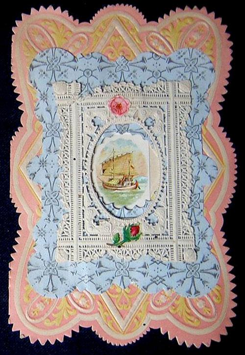 Victorian valentine: sailboat