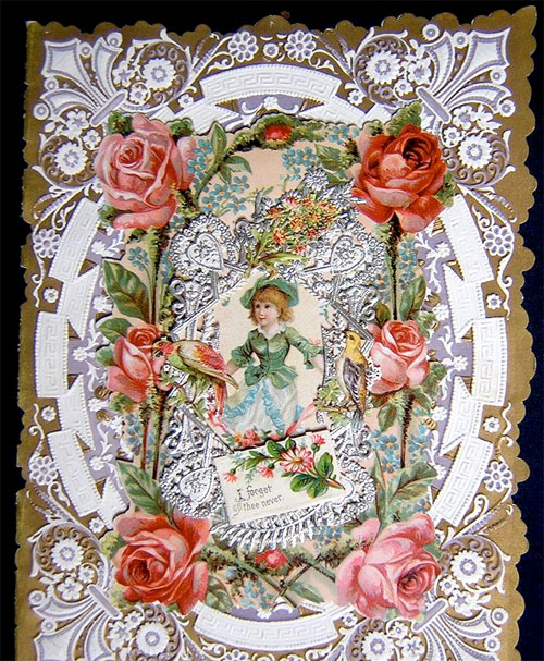"""Victorian valentine: """"I forget thee never"""""""