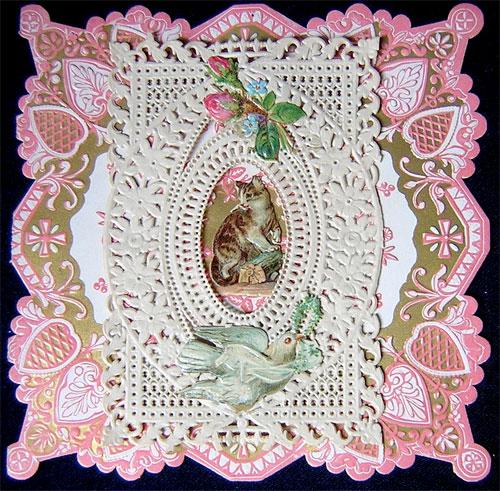 Victorian valentine: kitten & dove