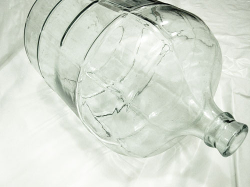 Glass water cooler jug