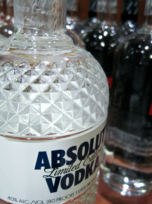 Absolut Vodka Limited Edition bottle