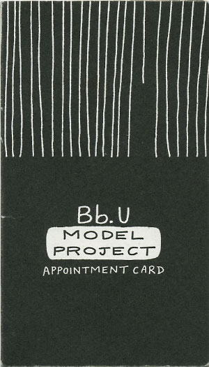 Bb.U Model Project appointment card