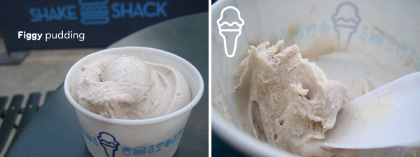 Shake Shack figgy pudding custard rating = single scoop