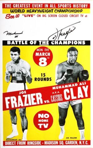 Frazier vs. Ali vintage boxing poster