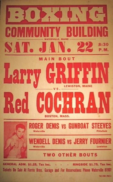 Griffin vs. Cochran vintage boxing poster