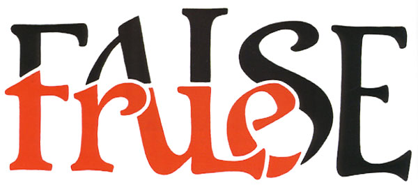 "Scott Kim ""True/False"" ambigram"