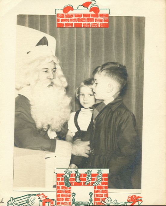 Me and Santa, inside photo