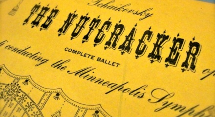Nutcracker decorative initials