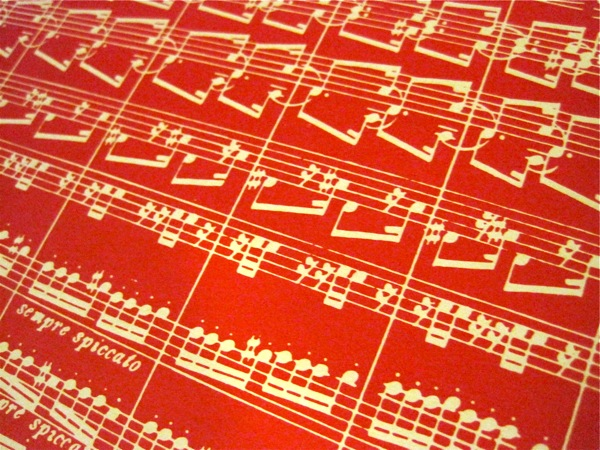 Nutcracker music note endpaper