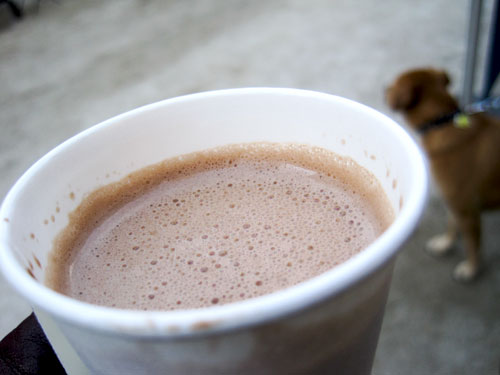 Shake Shack peanut butter hot chocolate