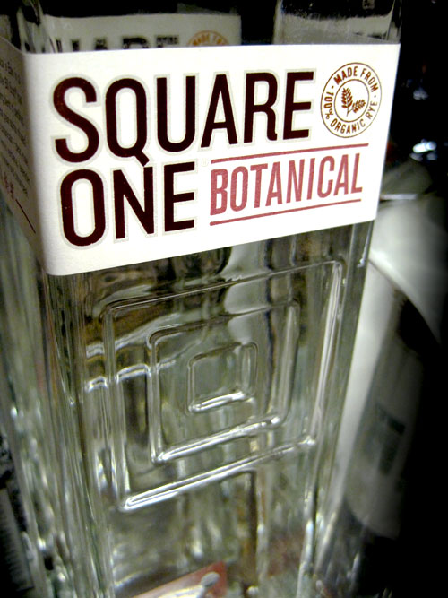 Square One Organic Vodka patterned bottle