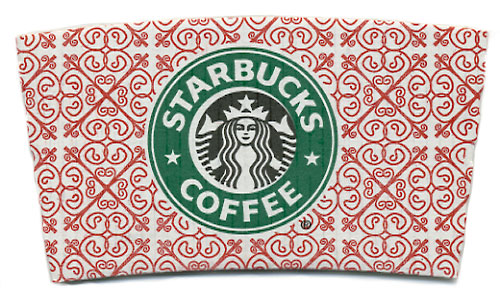 Starbucks Christmas cup sleeve