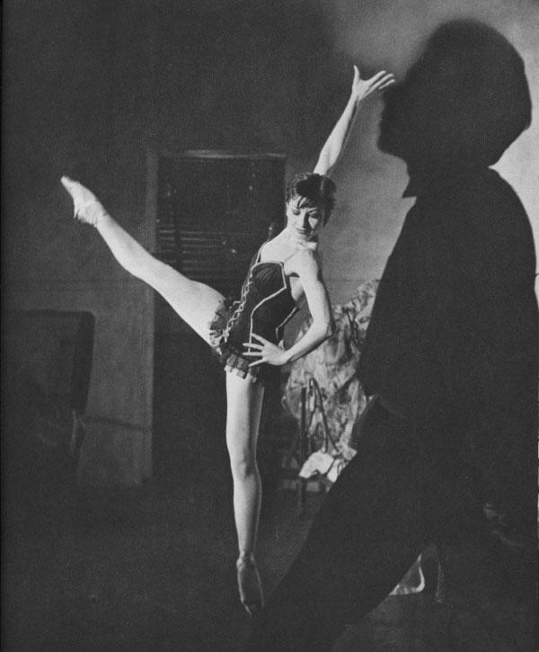 """Zizi Jeanmaire in Petit's """"Carmen"""" bedroom scene"""