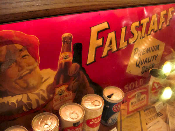 Falstaff Beer sign at Schlafly Bottleworks