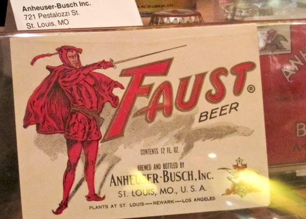 Faust Beer card at Schlafly Bottleworks