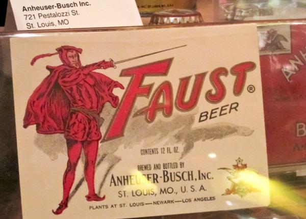 Faust Beer card at Schlafly Bottleworks