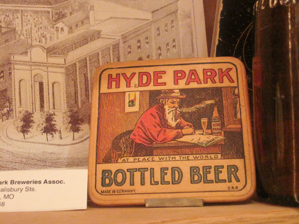 Hyde Park Beer coaster at Schlafly Bottleworks