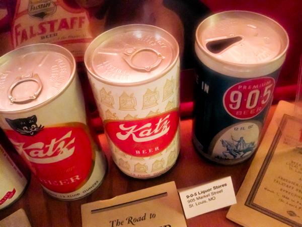 Katz, Premium 905 beer cans at Schlafly Bottleworks