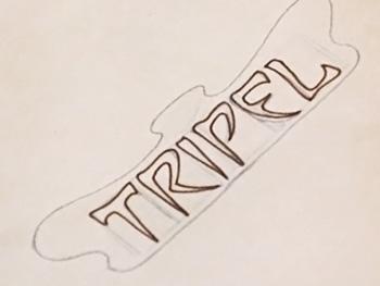 Schlafly Tripel hand-drawn lettering