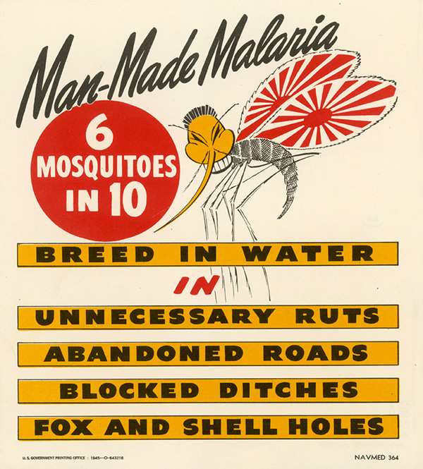 Racist anti-malaria poster