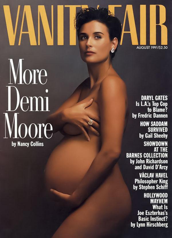 pregnant Demi Moore Vanity Fair cover © Annie Leibovitz
