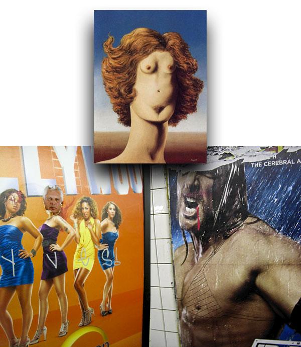 Magritte's 'Le Viol'; graffiti transgendering