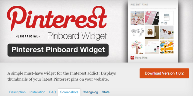 Pinterest Pinboard wordpress.org plugin